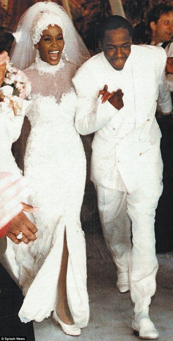 Уитни Хьюстон, свадьба, 1992 г.