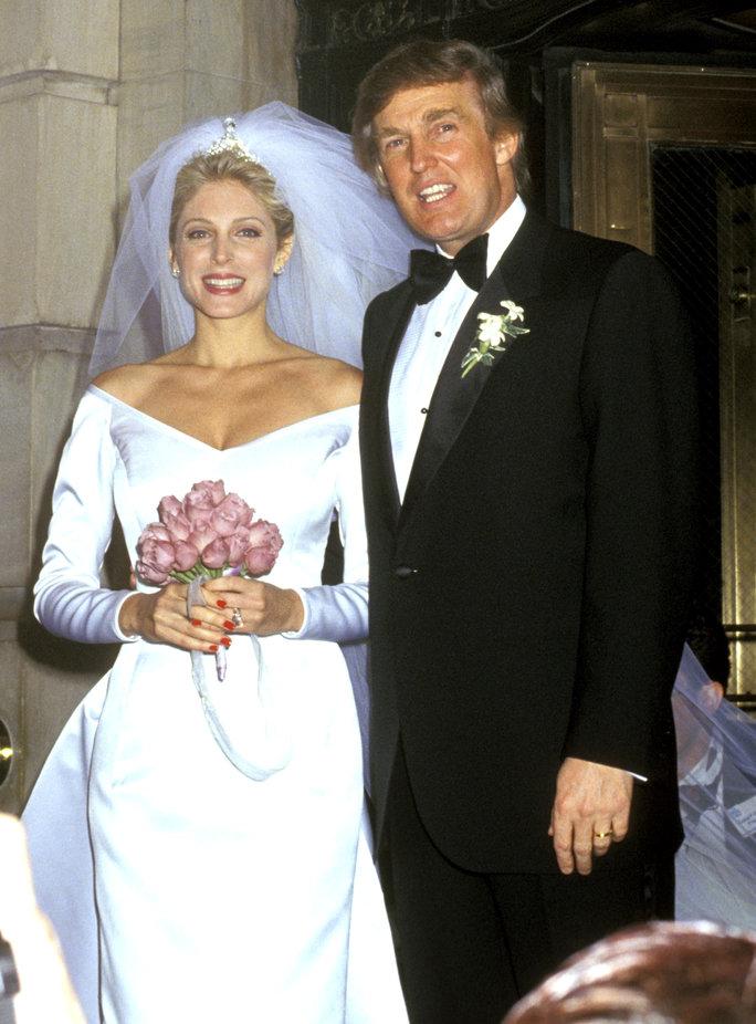 Свадьба Дональда Трампа и Марлы Мейплз, 1993 г.