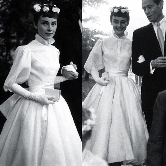 Свадебный образ Одри Хепберн, 1954 г.