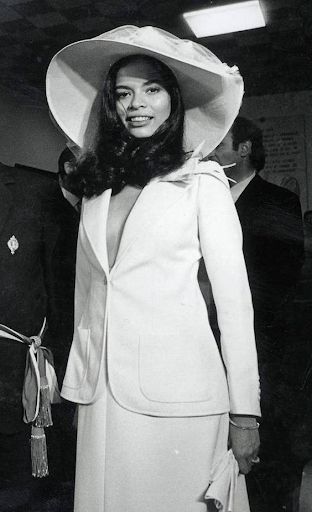 Свадебный образ Бьянки Джаггер, 1971 г.